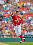 2 September 2012: Washington Nationals' third baseman Ryan Zimmerman in action against the St. Louis Cardinals at Nationals Park in Washington, DC. The Nationals edged out the visiting Cardinals 4-3, capping their 4-game series with three wins. Mandatory Credit: Ed Wolfstein Photo
