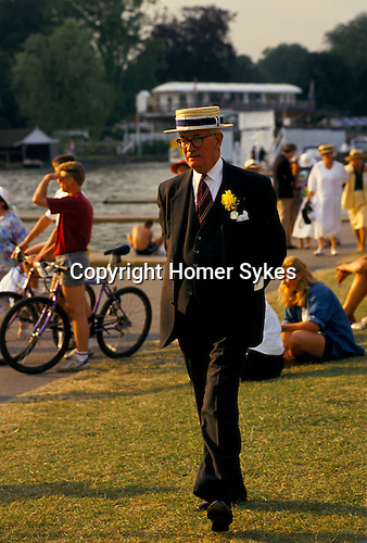 'HENLEY ROYAL REGATTA', TRADITIONAL 'BOATERS' ARE WORN