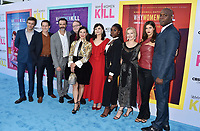 """BEVERLY HILLS, CA - AUGUST 07: (L-R) Jack Davenport, Sam Jaeger, Reid Scott, Marc Cherry, Lucy Liu, Ginnifer Goodwin, Kirby Howell-Baptiste, Sadie Calvano, Alexandra Daddario and Kevin Daniels attend the LA Premiere of CBS All Access' """"Why Women Kill"""" at Wallis Annenberg Center for the Performing Arts on August 07, 2019 in Beverly Hills, California.<br /> CAP/ROT<br /> ©ROT/Capital Pictures"""