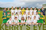 The Kerry under 16 girls squad front row l-r: Sinead Guiney, Nicole O'Connor, Carmel Kate Kelliher, Kate O'Sullivan, Sarah Kelly. Middle row: Claire O'Sullivan, Megan O'Connell, Sabrina Sheahan, Barbara Browne, Laura Rogers, Anna Galvin, Ayesha Roche, Niamh Gleeson, Meghan Buckley, Roisin Kissane. Back row: Danny Sheahan, Rachel O'Sullivan, Ciara Murphy, Charolette Higgins, Laura Sheeran, Michelle O'Connor, Maria Quirke, Eilish Dillon, Ciara griffin, Johanna O'Callaghan and Leanne Mangan
