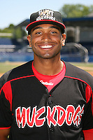 June 16, 2009:  Devin Shepherd of the Batavia Muckdogs poses for a head shot before the teams practice at Dwyer Stadium in Batavia, NY.  The Batavia Muckdogs are the NY-Penn League Single-A affiliate of the St. Louis Cardinals.  Photo by:  Mike Janes/Four Seam Images