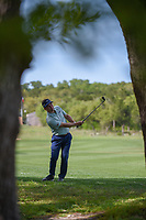 Chase Wright (USA) watches his approach shot on 1 during day 1 of the Valero Texas Open, at the TPC San Antonio Oaks Course, San Antonio, Texas, USA. 4/4/2019.<br /> Picture: Golffile | Ken Murray<br /> <br /> <br /> All photo usage must carry mandatory copyright credit (© Golffile | Ken Murray)