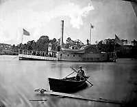 Gunboat Commodore Barney.  Mathew Brady Collection.  (Army)<br /> Exact Date Shot Unknown<br /> NARA FILE #:  111-B-182<br /> WAR &amp; CONFLICT BOOK #:  194