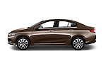 Car Driver side profile view of a 2016 Fiat Tipo Easy 4 Door Sedan Side View