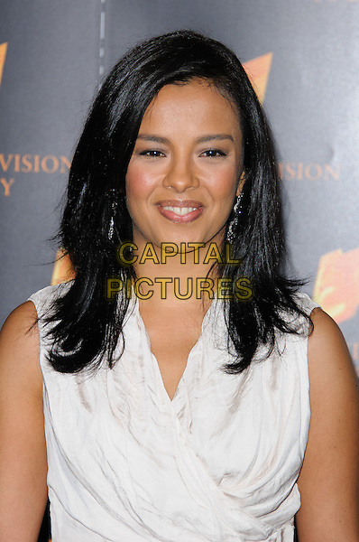 Liz Bonnin.Arrivals at the RTS Programme Awards 2012, London, England..March 20th, 2012.headshot portrait white dress sleeveless .CAP/CJ.©Chris Joseph/Capital Pictures.