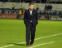 TUNJA  -COLOMBIA- 13-10--2013. Juan Carlos Osorio perdió su invicto con Patriotas de Boyacá. Acción de juego correspondiente al partido entre los equipos Patriotas de Boyacá y Atlético Nacional de Medellin, partido de la  Liga Postobón segundo semestre jugado en el estadio La Independencia / Action game for the game between the Patriots team Boyaca and Atletico Nacional Medellin, game in the second half Postoebon League played in Independence Stadium.Photo: VizzorImage / Jose Miguel Palencia / Stringer