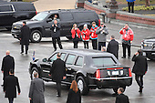 Spectators photograph Donald Trump departing during the 2017 Presidential Inauguration at the US Capitol in Washington, DC on January 20, 2017. <br /> Credit: Jack Gruber / Pool via CNP