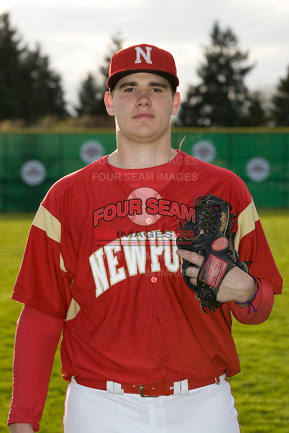 Head shot of Newport High School pitcher Jared Fisher #27 taken on April 8, 2011 at Newport High School in Bellevue, Washington.  Photo by Ronnie Allen / Four Seam Images.