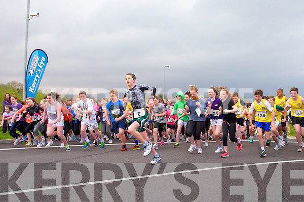 The inaugural Tralee International Marathon 3K Schools Race at the Wetlands on Monday