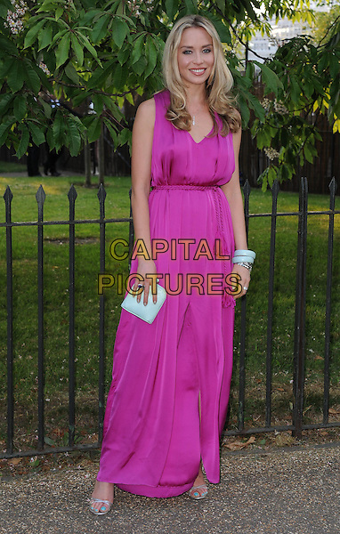 Noelle Reno<br /> At the annual Serpentine Gallery Summer Party at The Serpentine Gallery, Hyde Park, London, UK, June 26th , 2013 in London.<br /> full length bright pink sleeveless long maxi dress tassel belt cord <br /> CAP/DS<br /> &copy;Dudley Smith/Capital Pictures