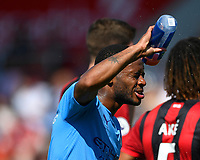 Raheem Sterling of Manchester City cools off during AFC Bournemouth vs Manchester City, Premier League Football at the Vitality Stadium on 25th August 2019