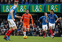 Blackpool's Liam Feeney breaks<br /> <br /> Photographer Andrew Kearns/CameraSport<br /> <br /> The EFL Sky Bet League One - Portsmouth v Blackpool - Saturday 12th January 2019 - Fratton Park - Portsmouth<br /> <br /> World Copyright © 2019 CameraSport. All rights reserved. 43 Linden Ave. Countesthorpe. Leicester. England. LE8 5PG - Tel: +44 (0) 116 277 4147 - admin@camerasport.com - www.camerasport.com