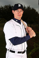 February 27, 2010:  Infielder Don Kelly (32) of the Detroit Tigers poses for a photo during media day at Joker Marchant Stadium in Lakeland, FL.  Photo By Mike Janes/Four Seam Images