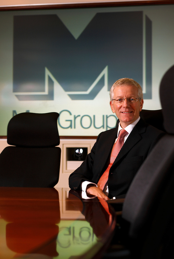 Photo: © Martin Beddall 4-12-07 Barrons Magazine..Portrait of Peter Clarke, CEO of Man Group plc  in London, UK.Peter Clarke, Chief Executive of Man Group plc in London, UK