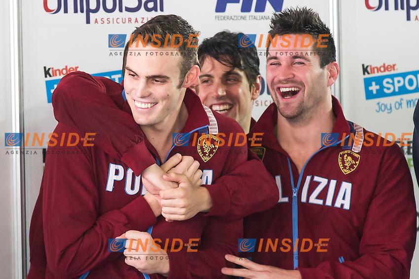 GS Fiamme Oro Roma<br /> 4x100m misti uomini<br /> Campionati Italiani Assoluti Nuoto Invernali Open Fin<br /> Riccione Italy 19/12/2015<br /> Photo Giorgio Perottino/Deepbluemedia/Insidefoto