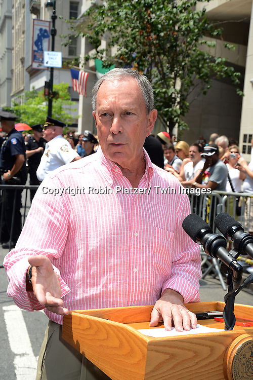Mayor Michael Bloomberg  attends the NYC 2013 Gay Pride Parade on June 30, 2013 on Fifth Avenue in New York City. The 3 Grand Marshalls were Harry Belafonte, Edie Windsor and <br /> Earl Fowlkes.