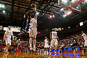 01 December 2010: Nebraska center Andre Almeida (32) puts the stop on Jackson State's Tyrone Hanson (10) in the second half at the Devaney Sports Center in Lincoln, Nebraska. Nebraska defeated Jackson State 76 to 57.