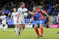 Liam Ridehalgh of Tranmere Rovers and Michael Cheek of Dagenham during Tranmere Rovers vs Dagenham & Redbridge, Vanarama National League Football at Prenton Park on 11th November 2017