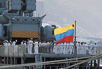 - La Guaira, military ship in the port ....- La Guaira, nave militare nel porto