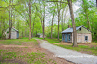 63895-15818 Cabins at Log Cabin Village in spring Kinmundy IL