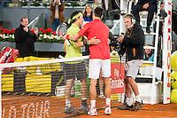 Japanese Kei Nishikori Serbian Novak Djokovic during ATP Semi-Finals Mutua Madrid Open Tennis 2016 in Madrid, May 07, 2016. (ALTERPHOTOS/BorjaB.Hojas) /NortePhoto.com