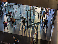 Revolving doors at the Time Warner Center in New York on Tuesday, May 13, 2014. (© Richard B. Levine)