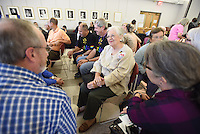 "NWA Democrat-Gazette/J.T. WAMPLER Image from Sunday Sept. 13, 2015, when NETWORK, a National Catholic Social Justice Lobby, which stopped in Fayetteville at St. Paul's Episcopal Church on its fourth national ""Nuns on the Bus"" tour themed, ""Bridge the Divides: Transform Politics,"". The 13-day, seven-state tour kicked off in St. Louis on Sept. 10 and ends in Washington, D.C. on Sept. 22, where NETWORK will host a rally to welcome Pope Francis."