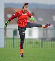 20160211 - TUBIZE , BELGIUM : Switzerland's Lea Van Weezenbeek  pictured during the friendly female soccer match between Women under 17 teams of  Belgium and Switzerland , in Tubize , Belgium . Thursday 11th February 2016 . PHOTO SPORTPIX.BE DIRK VUYLSTEKE