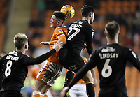 Blackpool's Jordan Thompson vies for possession with Barnsley's Alex Mowatt<br /> <br /> Photographer Rich Linley/CameraSport<br /> <br /> The EFL Sky Bet League One - Blackpool v Barnsley - Saturday 22nd December 2018 - Bloomfield Road - Blackpool<br /> <br /> World Copyright &copy; 2018 CameraSport. All rights reserved. 43 Linden Ave. Countesthorpe. Leicester. England. LE8 5PG - Tel: +44 (0) 116 277 4147 - admin@camerasport.com - www.camerasport.com