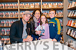 """Catriona, Naoish and Cathal O'Donoghue from Listry at the """"Me and My Mate Jeffrey"""" book signing with Niall Breslin in the Eason, Killarney last Saturday."""