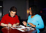 Christian Jules LeBlanc and fans - The Young and The Restless - Genoa City Live celebrating over 40 years on February 20, 2016 at the Wellmont Theatre, Montclair, NJ. on stage with questions and answers hosted by Christian followed with autographs and photos in the theater.  (Photo by Sue Coflin/Max Photos)