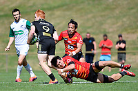 Masakatsu NISHIKAWA (西川 征克) in action during the Hurricanes Hinters v Wolfpack at Jerry Collins Stadium, Porirua, New Zealand on Friday 29 March 2019. <br /> Photo by Masanori Udagawa. <br /> www.photowellington.photoshelter.com