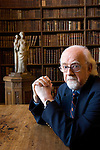 Anthony Jay in Christ Church Library during the Sunday Times Oxford Literary Festival, UK, 2-10 April 2011.<br />