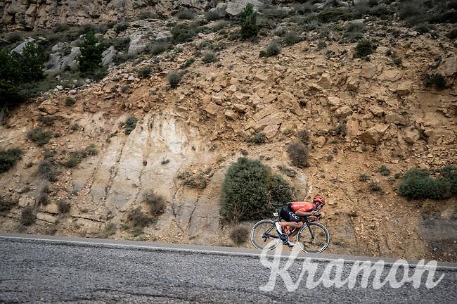 Jonas Koch (DEU/CCC) descending fast<br /> <br /> Stage 6: Mora de Rubielos to Ares del Maestrat (199km)<br /> La Vuelta 2019<br /> <br /> ©kramon