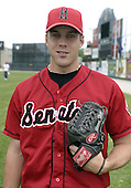 June 6, 2004:  Pitcher Sean Hill of the Harrisburg Senators, Eastern League (Doube-A) affiliate of the Montreal Expos (Washington Nationals) during a game at Jerry Uht Park in Erie, PA.  Photo by:  Mike Janes/Four Seam Images