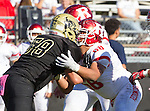Palos Verdes, CA 10/21/16 - \r88\ and Jason Augello (Peninsula #58) in action during the CIF Southern Section Bay League Redondo Union - Palos Verdes Peninsula game at Peninsula High School.