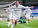 Raith Rovers' Calum Elliot celebrates after he scores their third goal.