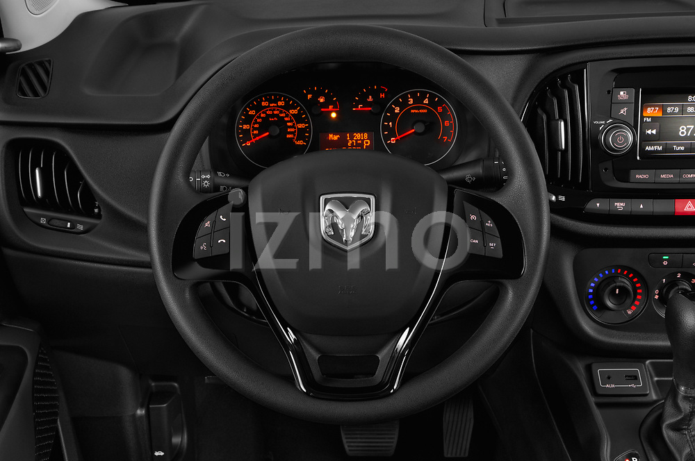 Car pictures of steering wheel view of a 2019 Ram Promaster-City Tradesman 5 Door Car Van Steering Wheel