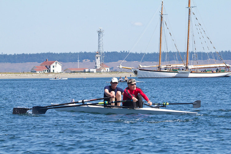 Port Townsend, Rat Island Regatta, rowers, Mark Miller, Jim Mason; Maas 2X, racing, Sound Rowers, Rat Island Rowing Club, Puget Sound, Olympic Peninsula, Washington State, water sports, rowing, competition,