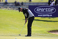 Lee Westwood (ENG) takes his putt on the 17th green during Thursday's Round 1 of the 2017 Omega European Masters held at Golf Club Crans-Sur-Sierre, Crans Montana, Switzerland. 7th September 2017.<br /> Picture: Eoin Clarke | Golffile<br /> <br /> <br /> All photos usage must carry mandatory copyright credit (&copy; Golffile | Eoin Clarke)