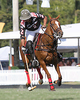 WELLINGTON, FL - FEBRUARY 05:  Lucas Criado #2 of Orchard Hill, controls the ball, during one of the early matches of the Ylvisaker Cup at the International Polo Club Palm Beach on February 05, 2017 in Wellington, Florida. (Photo by Liz Lamont/Eclipse Sportswire/Getty Images)