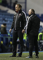 Bolton Wanderers' manager Phil Parkinson with assistant manager Steve Parkin<br />  <br /> Photographer Andrew Kearns/CameraSport<br /> <br /> The EFL Sky Bet Championship - Sheffield Wednesday v Bolton Wanderers - Tuesday 27th November 2018 - Hillsborough - Sheffield<br /> <br /> World Copyright © 2018 CameraSport. All rights reserved. 43 Linden Ave. Countesthorpe. Leicester. England. LE8 5PG - Tel: +44 (0) 116 277 4147 - admin@camerasport.com - www.camerasport.com