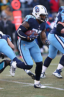 Tennessee Titans running back Derrick Henry #22 during an NFL football game between the Jacksonville Jaguars and the Tennessee Titans, Sunday, Dec. 31, 2017 in Nashville, Tenn. (Photo by Michael Zito/Panini)