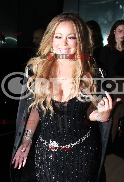 NEW YORK, NY - OCTOBER 23: Mariah Carey  arriving to the V Magazine Dinner in honor of Karl Lagerfeld at the Standard High Line in New York City on October 23, 2017. Credit: RW/MediaPunch /NortePhoto.com