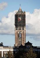 Nederland Utrecht - 2018.  De Domtoren wordt gerestaureerd.    Foto Berlinda van Dam / Hollandse Hoogte