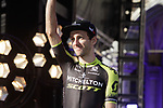 Adam Yates (GBR) Mitchelton-Scott at the team presentation held on the Grand-Place before the 2019 Tour de France starting in Brussels, Belgium. 4th July 2019<br /> Picture: Colin Flockton | Cyclefile<br /> All photos usage must carry mandatory copyright credit (© Cyclefile | Colin Flockton)