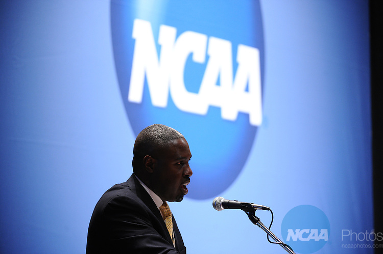 12 JAN 2012:  Education session entitled New NCAA Division I Athletics Certification Program held during the 2012 NCAA Convention held at the JW Marriott and Indianapolis Convention Center in Indianapolis, IN.  Joshua Duplechian/NCAA Photos.Pictured: Troy Arthur