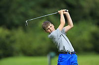 Caelan Coleman (Galway Bay) on the 1st tee during the Connacht U12, U14, U16, U18 Close Finals 2019 in Mountbellew Golf Club, Mountbellew, Co. Galway on Monday 12th August 2019.<br /> <br /> Picture:  Thos Caffrey / www.golffile.ie<br /> <br /> All photos usage must carry mandatory copyright credit (© Golffile | Thos Caffrey)