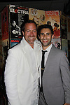Opening Night of Manipulation and after party at Sardis - Robert Bogue poses with castmate Rafi Silver at the curtain call of Victoria E. Calderon's play Manipulation on June 28, 2011 at the Cherry Lane Theatre, New York City, New York. (Photo by Sue Coflin/Max Photos)