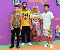 Prince Fielder, Chanel Fielder &amp; Family at Nickelodeon's Kids' Choice Sports 2017 at UCLA's Pauley Pavilion. Los Angeles, USA 13 July  2017<br /> Picture: Paul Smith/Featureflash/SilverHub 0208 004 5359 sales@silverhubmedia.com